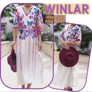 MAKE AN OFFER Butterfly Full Length Kaftan Dress, used for sale
